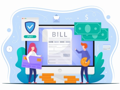 Bill Payment Vector Design Concept illustration graphicsurf graphics graphicdesign