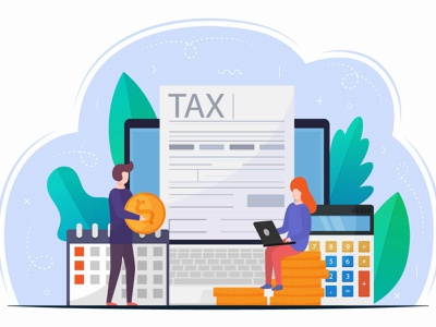 Online Tax Payment Vector Design Concept illustration graphicsurf graphics graphicdesign