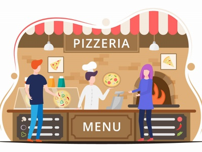 Pizzeria Vector Design Illustration illustration graphicsurf graphics graphicdesign