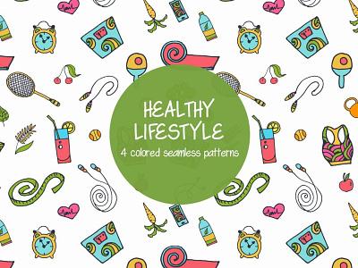 Healthy Lifestyle Seamless Free Pattern graphics pattern sport healthy free freebie vector vectorpattern