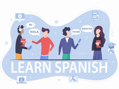 Learning the Spanish Language Free Illustration freevector illustration free freebie vector graphics learning