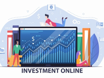 Online Investment Free Vector Flat Design graphic design design illustration free freebie vector graphics investment