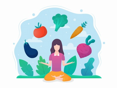 Vegan Food Vector Free Graphic Design in Flat Style graphic design design illustration free freebie vector graphics vegan vegetarian