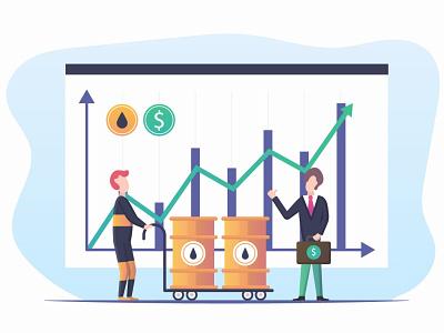 The Increase in Oil Prices Free Illustration money illustrator illustrations markets finances oil financial business charts chart financ finance design illustration free freebie graphics vector