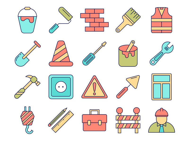 Download Construction Vector Freebie Icon Set