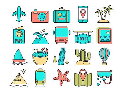 Tourism Vector Free Icon Set illistration iconset tourism freegraphics icon design freeicons icons freevector free freebie graphics