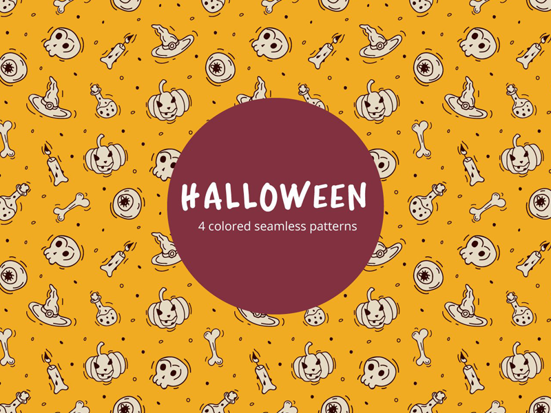 Halloween Vector Free Seamless Pattern halloween illustration typography design vector pattern graphics freebie free