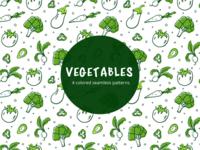 Vegetables Vector Freebie Seamless Pattern