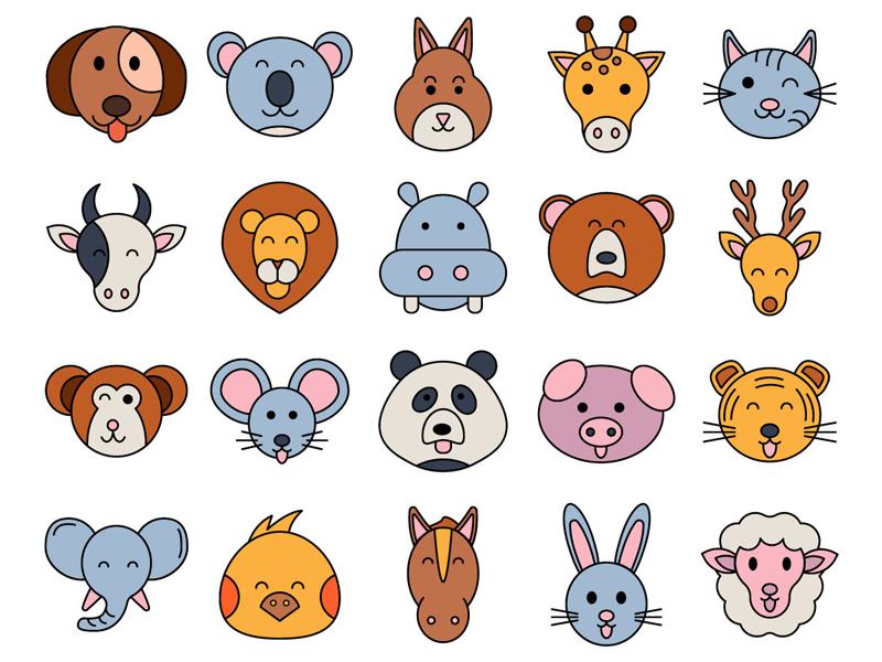 animals vector freebie icon set by deszone net free vector
