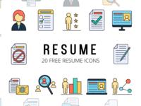Resume Vector Freebie Icon Set