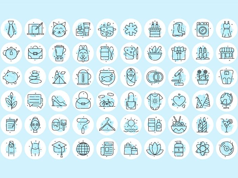 60 Instagram Highlight Freebie Icons instagram highlight icons highlight icons instagram typography icons vector graphics freebie free