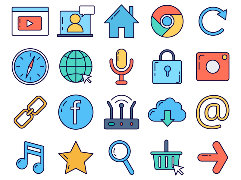Internet Vector Freebie Icon Set internet icons typography vector graphics freebie free