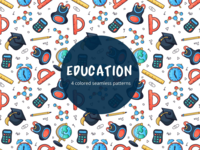 Education Vector Free Seamless Pattern