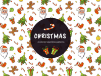 Christmas Vector Free Seamless Pattern