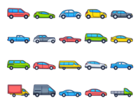 Cars Vector Freebie Icon Set