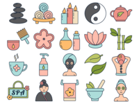 Spa Vector Freebie Icon Set