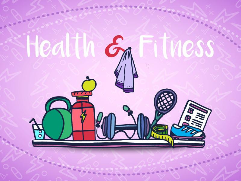 Health And Fitness Vector Freebie Illustration graphics vector fitness health typography illustration freebie free
