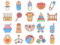 Baby Vector Freebie Icon Set