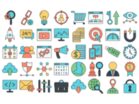 40 Freebie SEO Icons