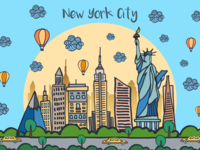 New York City Vector Free Illustration