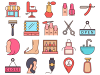 Beauty Salon Vector Freebie Icon Set