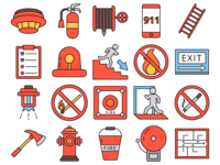 Fire Safety Vector Freebie Icon Set
