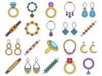 Jewelry Vector Freebie Icon Set