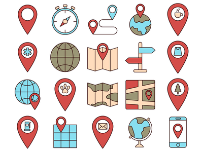 Map Vector Free Icon Set maps typography icons vector freebie free