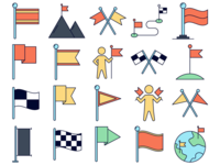 Flags Vector Freebie Icons Set