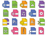 Files Vector Freebie Icon Set