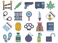 Crime Vector Freebie Icon Set
