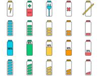 Battery Vector Freebie Icon Set