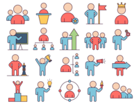 Leader Vector Freebie Icon Set