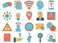 Question Vector Freebie Icon Set