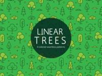 Linear Tree Vector Freebie Pattern