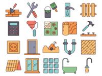 Construction Service Vector Free Icon Set