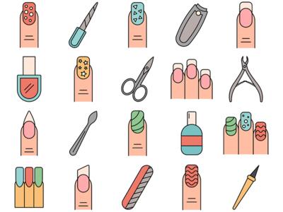 Manicure Vector Freebie Icon Set