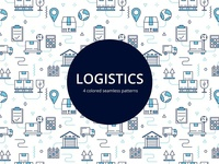 Logistics Vector Free Seamless Pattern