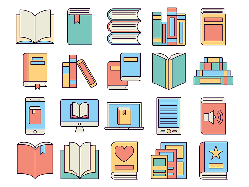 Book Vector Free Icons by DesZone net - Free Vector Graphics