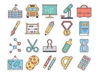 School Vector Freebie Icon Set