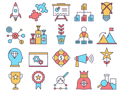 Startup Vector Freebie Icon Set startup typography icons vector graphics freebie free