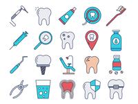 Dental Vector Freebie Icon Set
