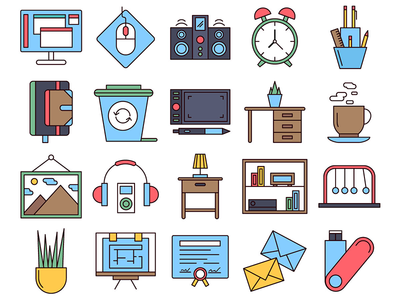 Workspace Vector Freebie Icon Set