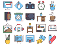 Workspace Vector Freebie Icon Set