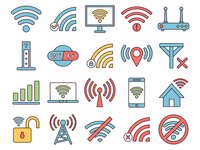 Wi-Fi Vector Freebie Icon Set
