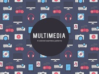Multimedia Vector Free Seamless Pattern