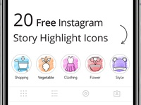 20 Freebie Instagram Highlight Icons