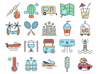 Hello Summer Vector Free Icons