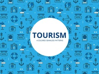 Tourism Vector Free Pattern