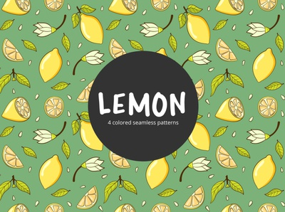 Lemon Vector Free Seamless Pattern